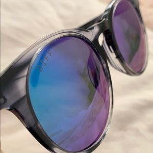 DIFF Eyewear Charlie Mirrored Sunglasses